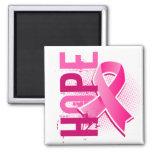 Hope 2 Breast Cancer Square Magnet