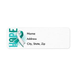 Hope 2 Cervical Cancer Return Address Label
