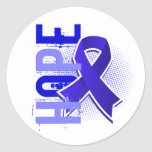 Hope 2 Colon Cancer Round Stickers