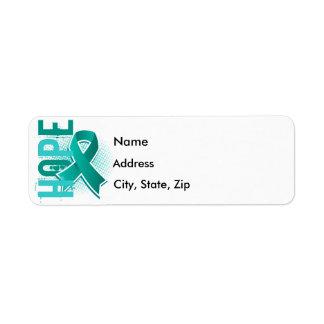 Hope 2 Ovarian Cancer Return Address Label