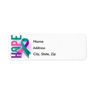 Hope 2 Thyroid Cancer Return Address Label