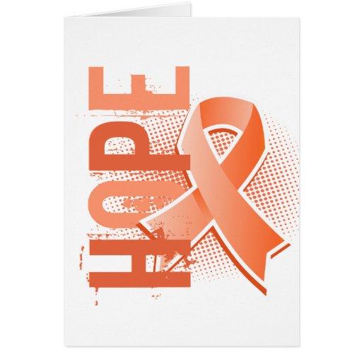 Hope 2 Uterine Cancer Greeting Cards