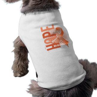 Hope 2 Uterine Cancer Doggie T Shirt