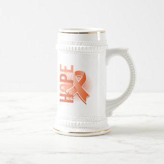 Hope 2 Uterine Cancer 18 Oz Beer Stein