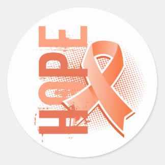Hope 2 Uterine Cancer Round Sticker