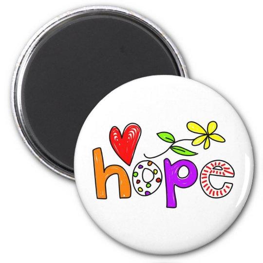 Hope 6 Cm Round Magnet