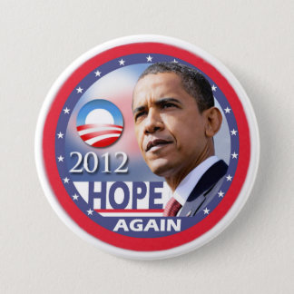 Hope Again / Obama 2012 7.5 Cm Round Badge