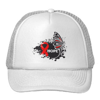 Hope AIDS HIV Butterfly Mesh Hats