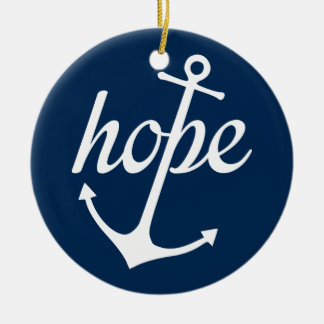 Hope Anchors The Soul (Hebrews 6:19) Round Ceramic Decoration