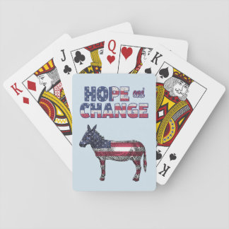 Hope and Change Democratic Donkey Cards