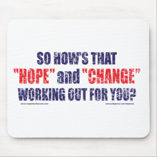 HOPE-and-Change-DST-TEE Mouse Pad