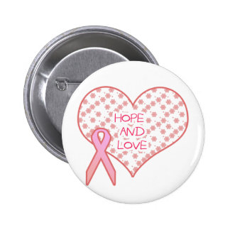 Hope and Love 6 Cm Round Badge