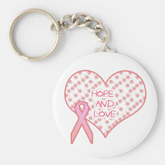 Hope and Love Basic Round Button Key Ring