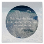 Hope as an Anchor Inspirational Poster-Hebrews6:19 Poster