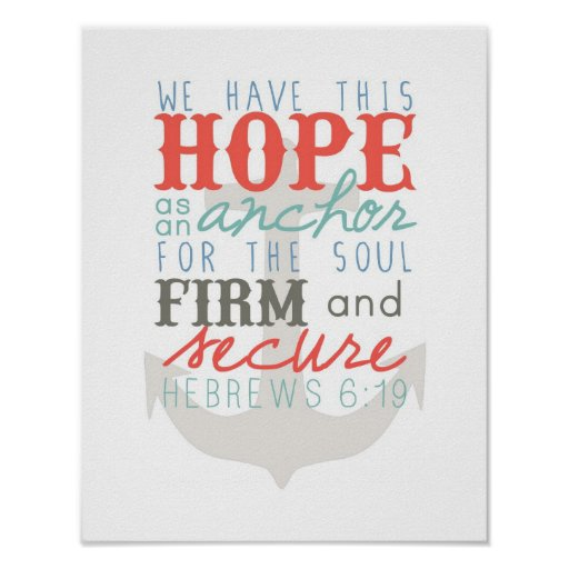 Hope As An Anchor poster print