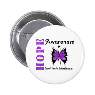 Hope Awareness Butterfly Domestic Violence 6 Cm Round Badge