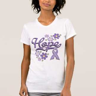 Hope Awareness Ribbon Alzheimers Distressed Tee