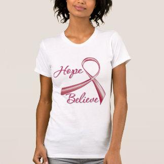 Hope Believe Amyloidosis Awareness T-shirt