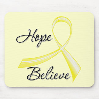Hope Believe Brush Ribbon Bladder Cancer Mouse Pad