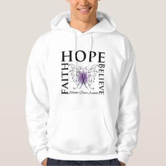 Hope Believe Faith - Alzheimer's Disease Hooded Sweatshirt