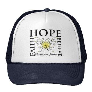 Hope Believe Faith - Bladder Cancer Trucker Hats