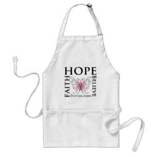 Hope Believe Faith - Breast Cancer Adult Apron