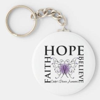 Hope Believe Faith - Crohn s Disease Key Chains