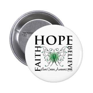 Hope Believe Faith - Liver Cancer 6 Cm Round Badge
