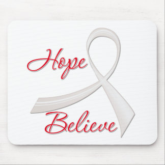 Hope Believe Lung Cancer Mousepad