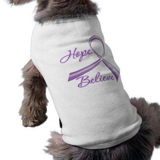 Hope Believe Pancreatic Cancer Dog T Shirt