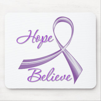 Hope Believe Pancreatic Cancer Mouse Pad