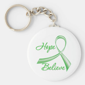 Hope Believe Spinal Cord Injury Keychain