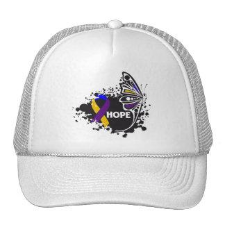 Hope Bladder Cancer Butterfly Trucker Hat