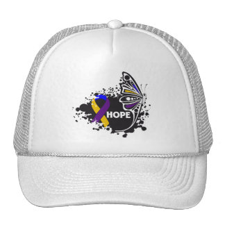 Hope Bladder Cancer Butterfly Hats