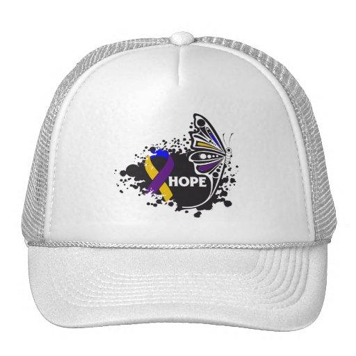 Hope Bladder Cancer Butterfly Hats