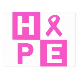 Hope Breast Cancer Awareness Postcard