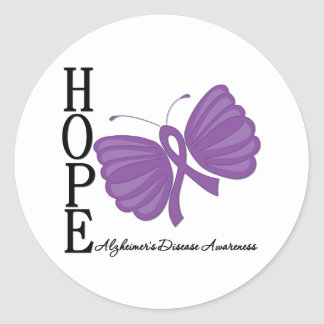 Hope Butterfly Alzheimer s Disease Stickers