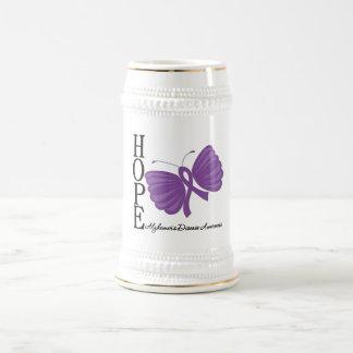 Hope Butterfly Alzheimer's Disease Beer Steins