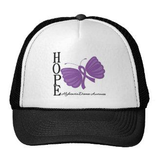 Hope Butterfly Alzheimer's Disease Hats