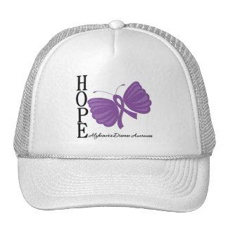 Hope Butterfly Alzheimer's Disease Mesh Hats