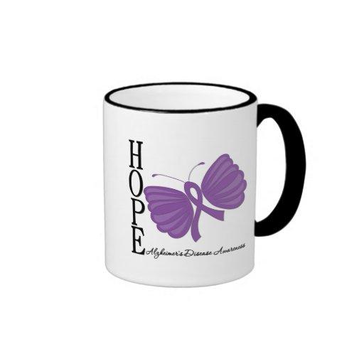 Hope Butterfly Alzheimer's Disease Mugs