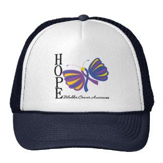 Hope Butterfly Bladder Cancer Awareness Mesh Hats
