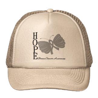 Hope Butterfly Brain Cancer Cap