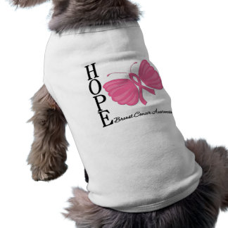 Hope Butterfly Breast Cancer Pet Tee