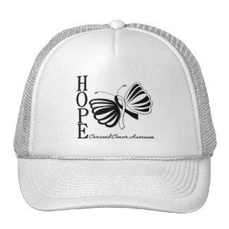 Hope Butterfly Carcinoid Cancer Trucker Hat