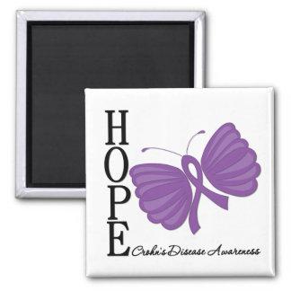 Hope Butterfly Crohn's Disease Refrigerator Magnet