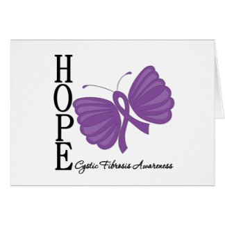 Hope Butterfly Cystic Fibrosis Greeting Card