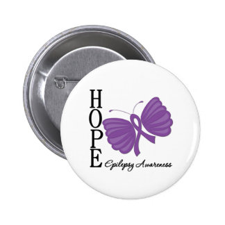 Hope Butterfly Epilepsy 6 Cm Round Badge