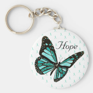 Hope Butterfly Key Chain with MG Awareness Ribbons