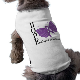 Hope Butterfly Lupus Sleeveless Dog Shirt